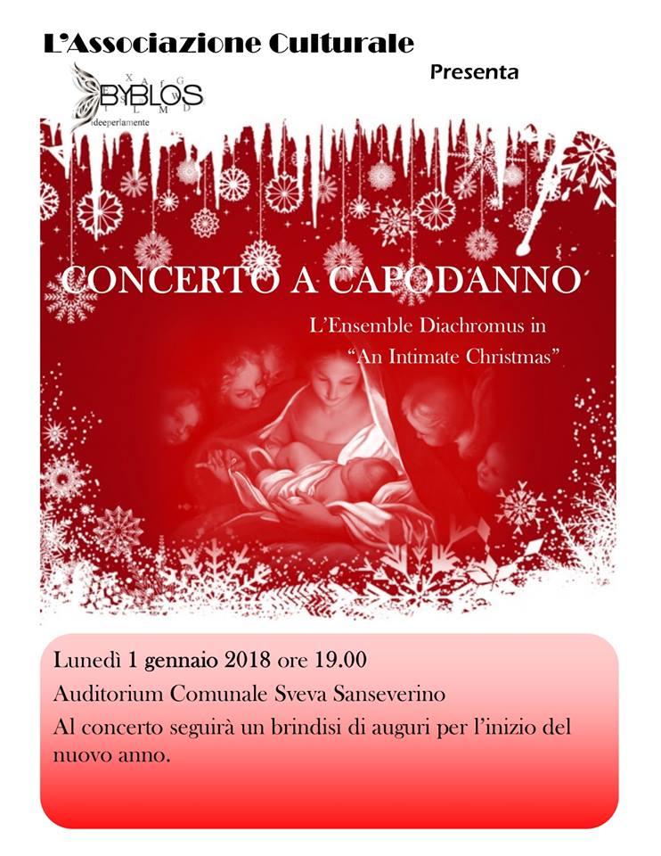 locandina concerto a capodanno dell'Ensemble Diachromus