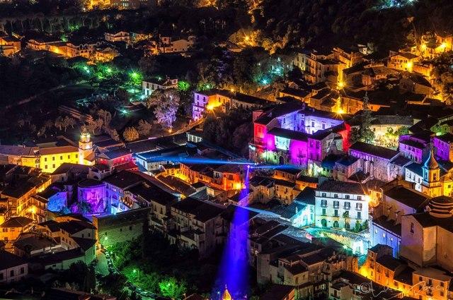 Veduta sul quartiere storico di Piedimonte Matese dell'edizione 2017 di IlluminArti